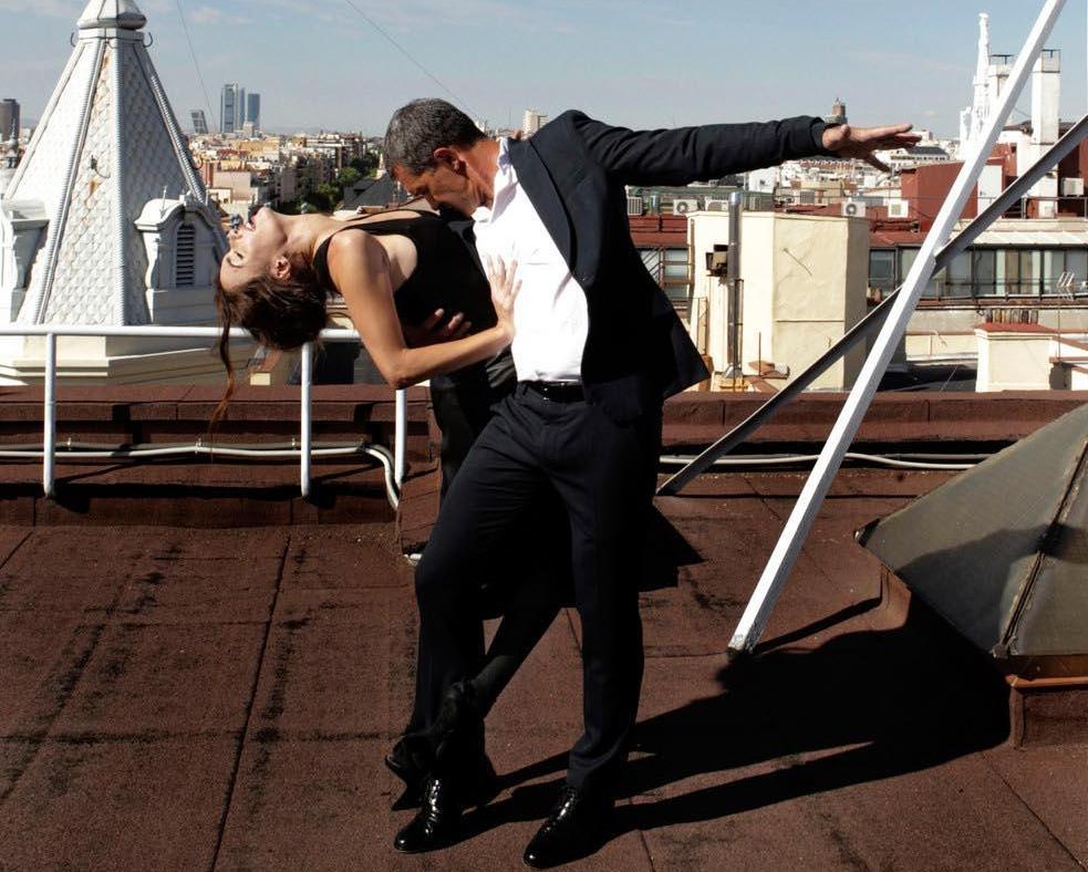 Paz Vega & Antonio Banderas by Bernardo Doral for ELLE Spain December 2013