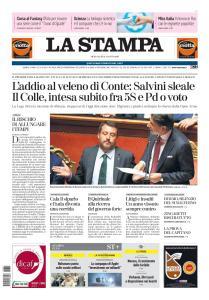 La Stampa Milano - 21 Agosto 2019