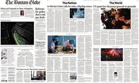 The Boston Globe – August 28, 2018