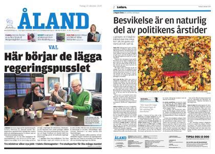 Ålandstidningen – 22 oktober 2019