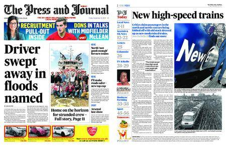 The Press and Journal Moray – September 15, 2017
