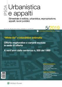 Urbanistica e appalti - Settembre-Ottobre 2019