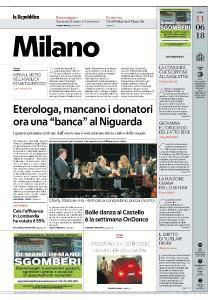 la Repubblica Milano - 11 Giugno 2018