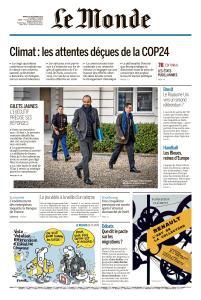 Le Monde du Mardi 18 Décembre 2018