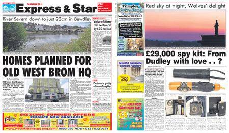 Express and Star Sandwell Edition – July 27, 2018