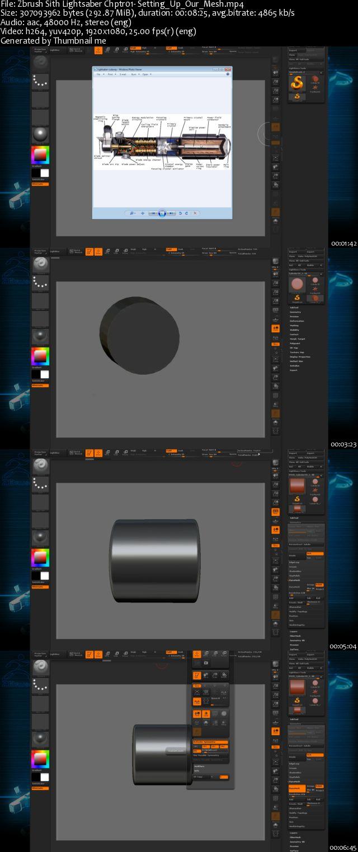 Gumroad - Zbrush Hard Surface Vol  1 Bundle Sith Lightsaber