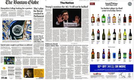 The Boston Globe – January 16, 2019
