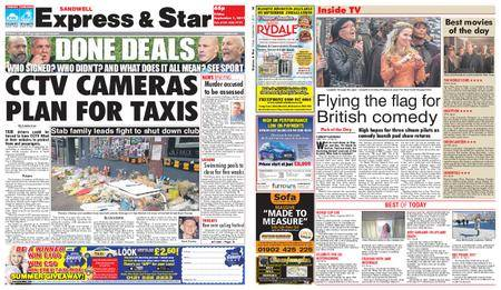 Express and Star Sandwell Edition – September 01, 2017