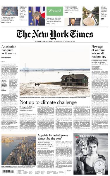 International New York Times - 23-24 March 2019
