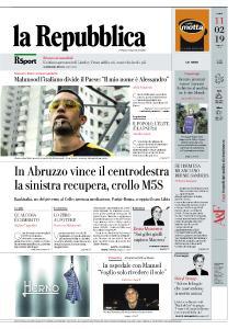 la Repubblica - 11 Febbraio 2019