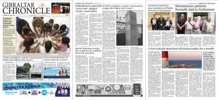 Gibraltar Chronicle – 20 July 2019