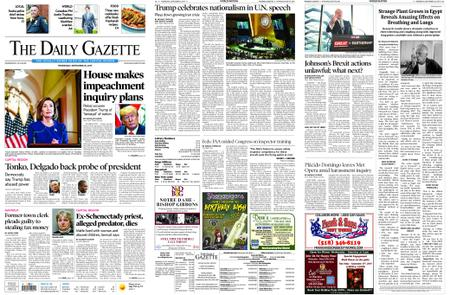The Daily Gazette – September 25, 2019