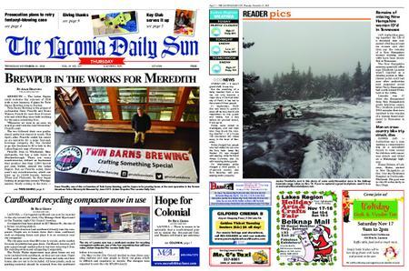The Laconia Daily Sun – November 15, 2018