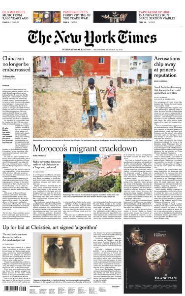 International New York Times - 24 October 2018
