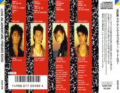 Pseudo Echo - Love An Adventure (1987) Japanese Press