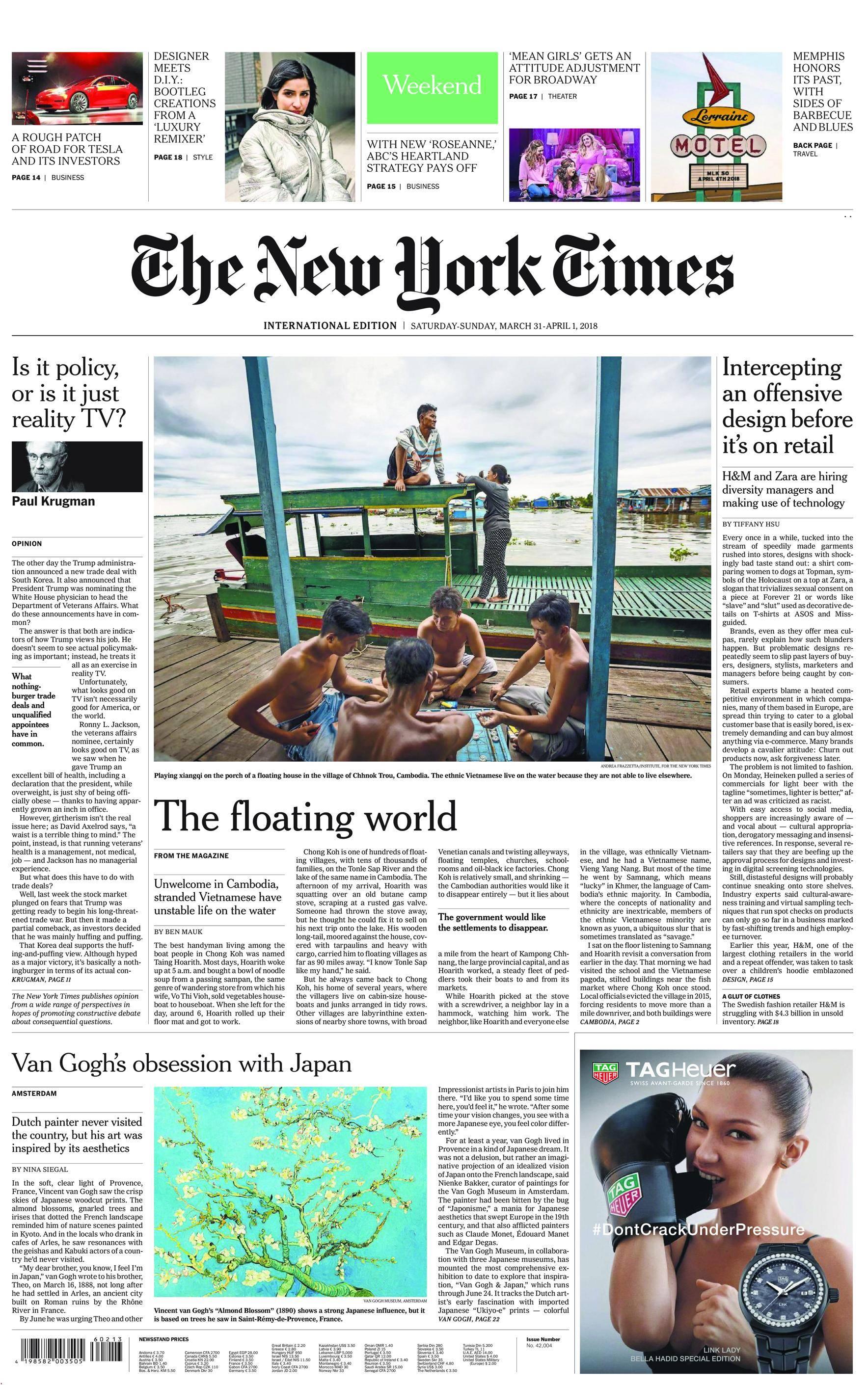 International New York Times - 31 March 2018