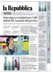 la Repubblica - 10 Agosto 2018