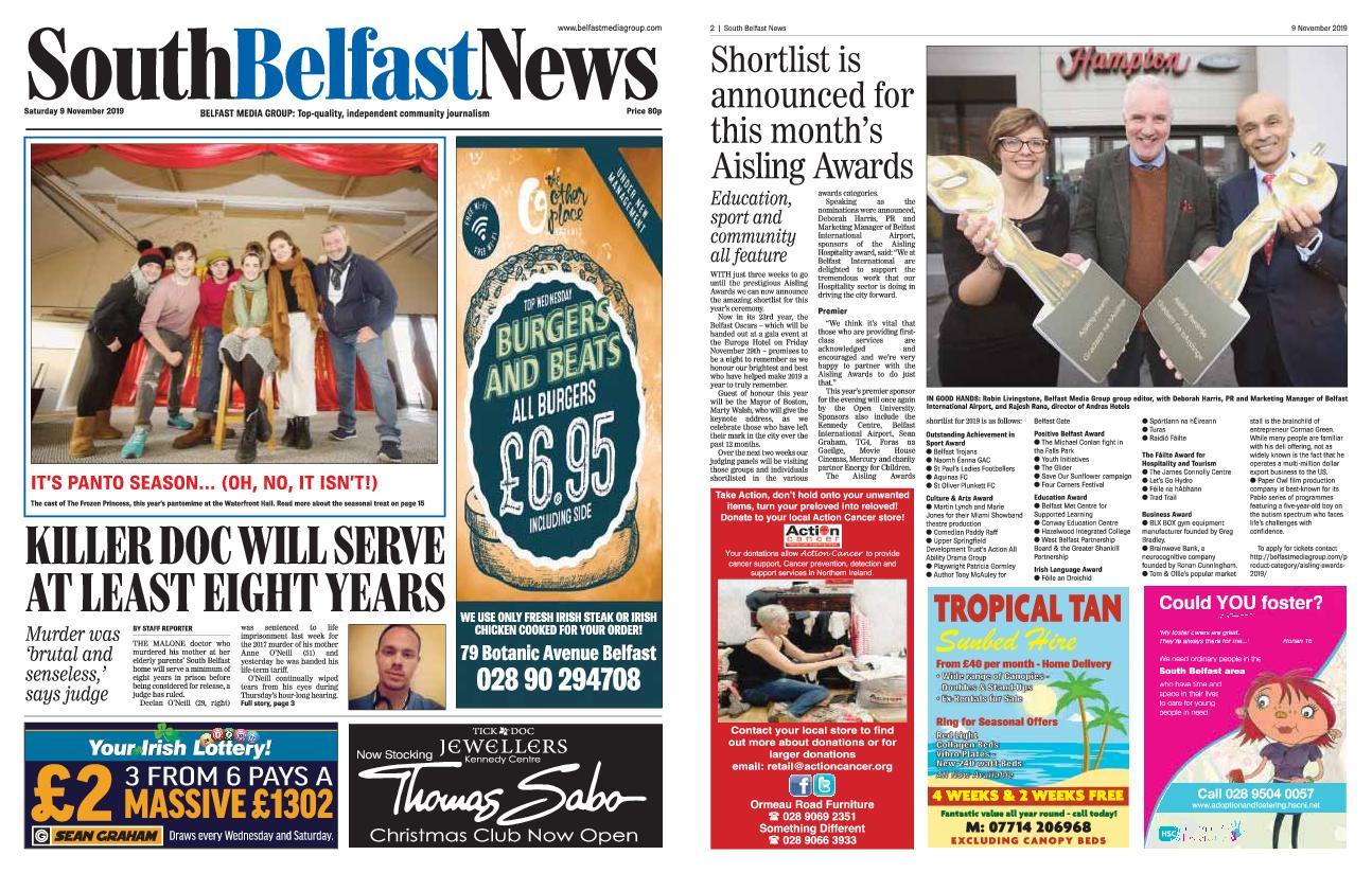 South Belfast News – November 08, 2019