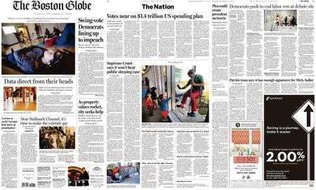 The Boston Globe – December 17, 2019