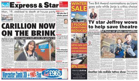 Express and Star City Edition – January 15, 2018