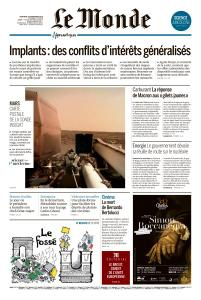 Le Monde du Mercredi 28 Novembre 2018