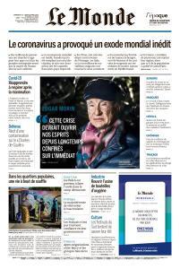Le Monde du Dimanche 19 et Lundi 20 Avril 2020