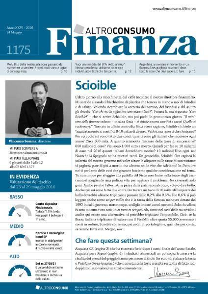 Altroconsumo Finanza - 24 Maggio 2016 + Supplemento Tecnico