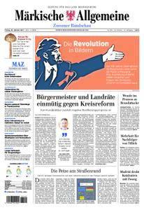 Märkische Allgemeine Zossener Rundschau - 20. Oktober 2017