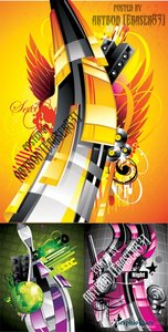 Abstract 3D Vector Illustrations