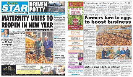 Shropshire Star Shrewsbury Edition – October 23, 2017