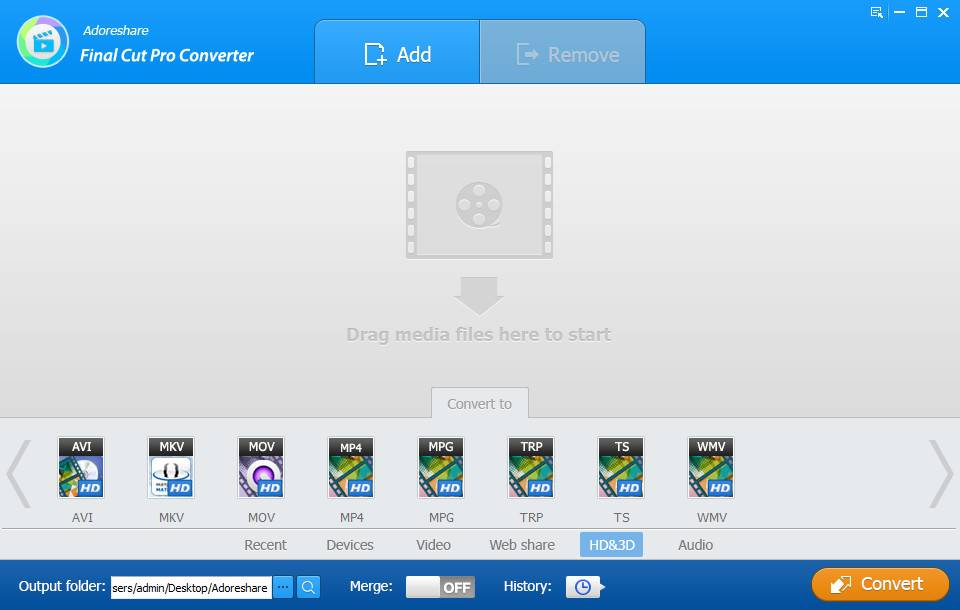 Adoreshare Final Cut Pro Converter 1.2.0.0 Build 06.07.2017