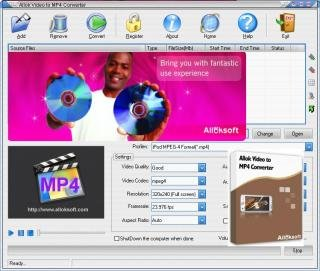 GRATUIT IPOD CONVERTER ALLOK 6.2.0603 TÉLÉCHARGER PSP VIDEO 3GP MP4