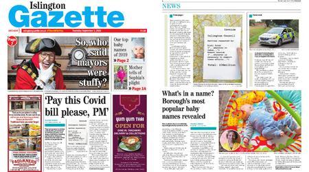 Islington Gazette – September 03, 2020