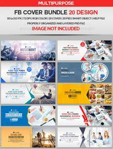 GraphicRiver - Facebook Cover Bundle Two - 20 Design