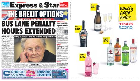 Express and Star Sandwell Edition – March 27, 2019