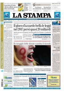 La Stampa Torino Provincia e Canavese - 7 Gennaio 2018