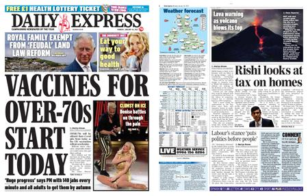 Daily Express – January 18, 2021