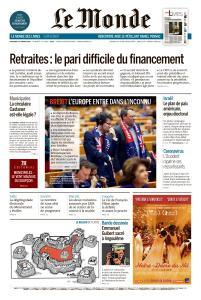 Le Monde du Vendredi 31 Janvier 2020