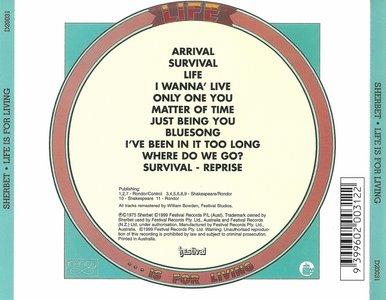 Sherbet - Life Is For Living (1975) {1999, Reissue}