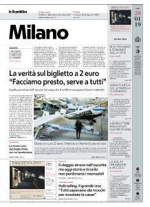 la Repubblica Milano - 28 Gennaio 2019