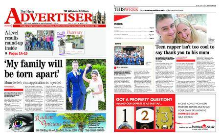 The Herts Advertiser – August 24, 2017