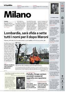 la Repubblica Milano - 3 Febbraio 2018
