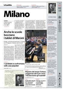 la Repubblica Milano - 5 Febbraio 2018