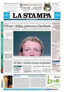 La Stampa Torino Provincia e Canavese - 21 Marzo 2018