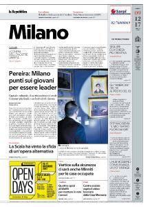 la Repubblica Milano - 9 Dicembre 2017