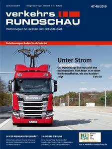 VerkehrsRundschau - 19. November 2019