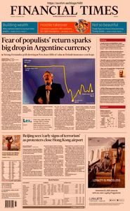 Financial Times Europe – 13 August 2019