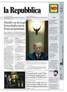 la Repubblica - 12 Febbraio 2018