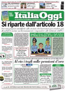 ItaliaOggi (09 Agosto 2011)