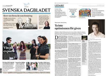 Svenska Dagbladet – 18 augusti 2019